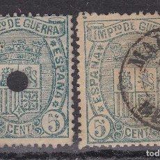 Sellos: CL8-18- CLÁSICOS EDIFIL 154/154T MAHON Y USADO TALADRO TELÉGRAFOS. VARIEDAD COLOR. Lote 118661887