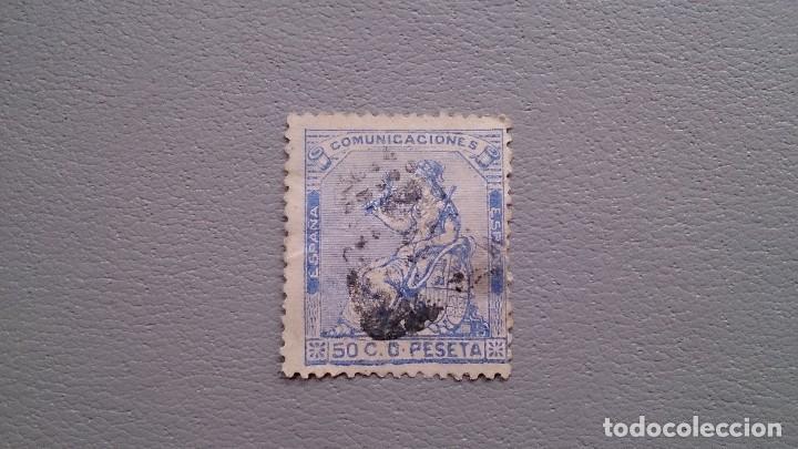 ESPAÑA - I REPUBLICA - EDIFIL 137 - ALEGORIA DE ESPAÑA. (Sellos - España - Amadeo I y Primera República (1.870 a 1.874) - Usados)