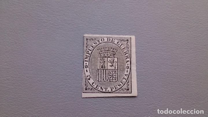 ESPAÑA - 1874 - I REPUBLICA - EDIFIL 141 S - SIN DENTAR - MH* - NUEVO - ESCUDO DE ESPAÑA. (Sellos - España - Amadeo I y Primera República (1.870 a 1.874) - Nuevos)