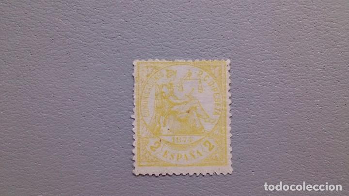 ESPAÑA - 1874 - I REPUBLICA - EDIFIL 143 - MH* - NUEVO - ALEGORIA DE LA JUSTICIA -VALOR CATALOGO 35€ (Sellos - España - Amadeo I y Primera República (1.870 a 1.874) - Nuevos)
