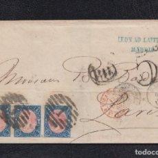 Sellos: 1865.- MADRID A PARIS (FRANCIA). Lote 124645675