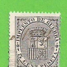Sellos - EDIFIL 141. ESCUDO DE ESPAÑA - SELLOS IMPUESTO DE GUERRA. (1874). - 126475727