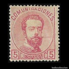 Sellos: SELLOS. ESPAÑA. REINADO AMADEO I.1872 CORONA REAL.CIFRAS Y AMADEO I. 5C ROSA. NUEVO. EDIF.Nº 118. Lote 127213883