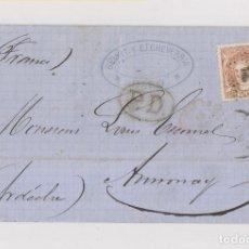 Sellos: CARTA ENTERA DE HARO. RIOJA. A FRANCIA. 1872. SELLO MATRONA 12 CUARTOS.. Lote 130555070