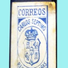 Sellos: 1874.=CARLOS SEPTIMO VALOR TRES CUARTOS.CARLISTA DE Z.DE LEVANTE,LLAMADOS CANTAVIEJA.O EJERCITO REAL. Lote 130726134
