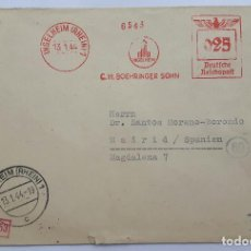 Sellos: SOBRE DE CORREOS ALEMAN VACÍO 1944.. Lote 131116620