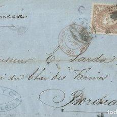 Sellos: ENVUELTA DE 1871 DE SEVILLA A BURDEOS (FRANCIA) CON MATASELLOS ROMBO DE PUNTOS.. Lote 131514406