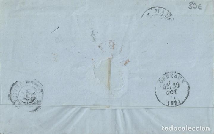 Sellos: Envuelta de 1871 de SEVILLA a BURDEOS (Francia) con matasellos Rombo de puntos. - Foto 2 - 131514406