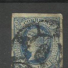 Sellos: ESPAÑA SELLO USADO 1864 (TIMBRE EN FORMA DE ARAÑA). Lote 133285554