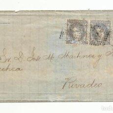 Sellos: ENVUELTA CIRCULADA 1873 DE SANTANDER A RIVADEO. Lote 137146510