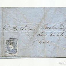 Sellos: CIRCULADA Y ESCRITA 1872 DE SANTANDER A LAS CALDAS. Lote 137146846