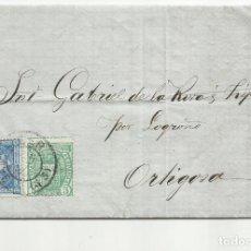 Sellos: CIRCULADA Y ESCRITA 1876 DE SANTANDER A ORTIGOSA. Lote 138771754