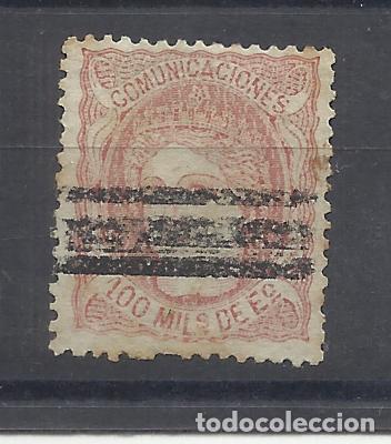 ALEGORIA 1870 EDIFIL 108 BARRADO (Sellos - España - Amadeo I y Primera República (1.870 a 1.874) - Usados)