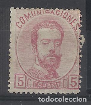 AMADEO DE SABOYA 1872 EDIFIL 118 NUEVO(*) VALOR 2018 CATALOGO 35.- EUROS (Sellos - España - Amadeo I y Primera República (1.870 a 1.874) - Nuevos)