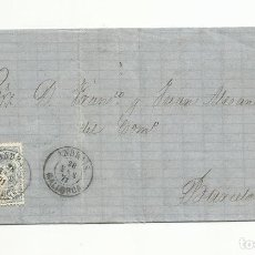 Selos: CIRCULADA 1871 DE ANDRAITX BALEARES A BARCELONA. Lote 140677666