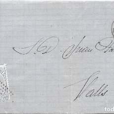 Sellos: EDIFIL 121. ENVUELTA DE MONTBLANCH A VALLS. 2-JUL-1872. Lote 141191302