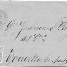 Sellos: EDIFIL 107. ENVUELTA DE FIGUERAS A TORRUELLA DE MONTGUI. 10-AGO-1871. Lote 141193030