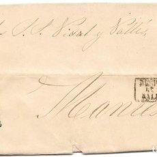 Sellos: EDIFIL 107. ENVUELTA DE MONTBLANCH A MANRESA. DESPUES DE LA SALIDA. 18-MAY-1872. Lote 141194838