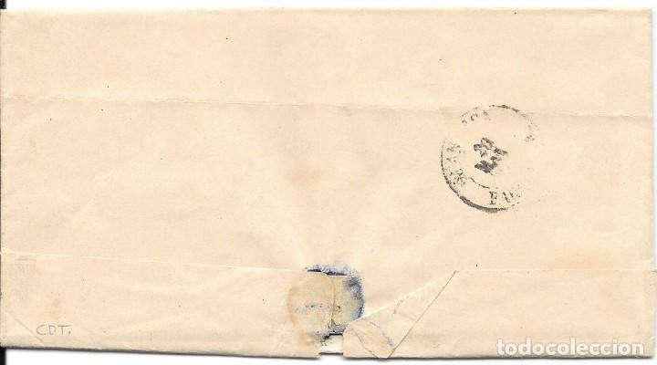Sellos: EDIFIL 107. ENVUELTA DE MONTBLANCH A MANRESA. DESPUES DE LA SALIDA. 18-MAY-1872 - Foto 2 - 141194838