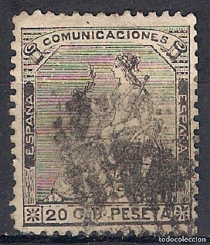 ESPAÑA 1873 EDIFIL 134 USADO - 1/6 (Sellos - España - Amadeo I y Primera República (1.870 a 1.874) - Usados)