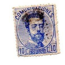 Sellos: 1872 - ESPAÑA - REINADO DE AMADEO I DE SABOYA - EDIFIL Nº 121. Lote 143414946