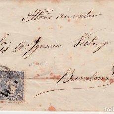 Selos: CARTA COMPLETA CON PAREJA DE SELLOS NUM 107 DE ALVAREZ Y OTIN EN CÓRDOBA 1870. Lote 143840154