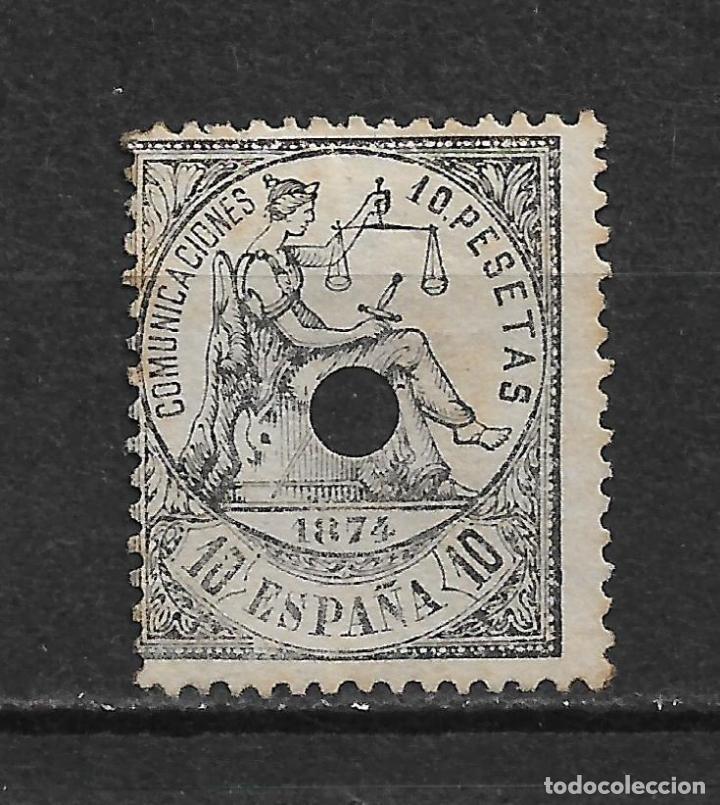 ESPAÑA 1874 ALEGORIA DE LA JUSTICIA EDIFIL 152T 152 TALADRO - 20/8 (Sellos - España - Amadeo I y Primera República (1.870 a 1.874) - Usados)