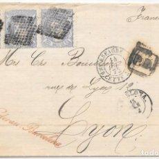 Sellos: EDIFIL 107. MATRONA. ENVUELTA CIRCULADA DE BARCELONA A LYON - FRANCIA. 1872 . Lote 145714202