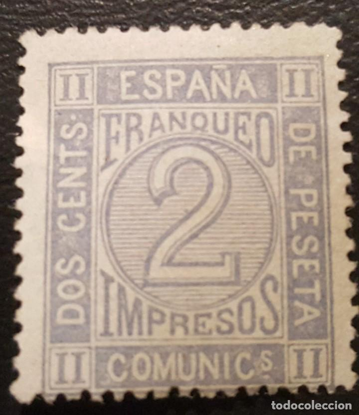 AMADEO I 1872 CIFRAS 2C DE PESETA ED. 116 (Sellos - España - Amadeo I y Primera República (1.870 a 1.874) - Usados)