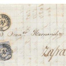 Sellos: EDIFIL 107. ENVUELTA CIRCULADA DE MERIDA A ZAFRA. 1870. Lote 146022574