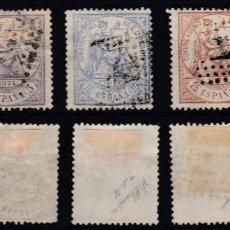 Sellos: EDIFIL. ALEGORIA DE LA JUSTICIA. Nº 143, 144, 145, 147 Y 148. USADOS. MUY BONITOS.. Lote 147282630