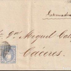 Sellos: ZARAGOZA - DOBLE PORTE - 1871 - 24 DICIEMBRE - MATASELLO DOBLE ROMBO REJILLA AMBULANTE. Lote 148834106