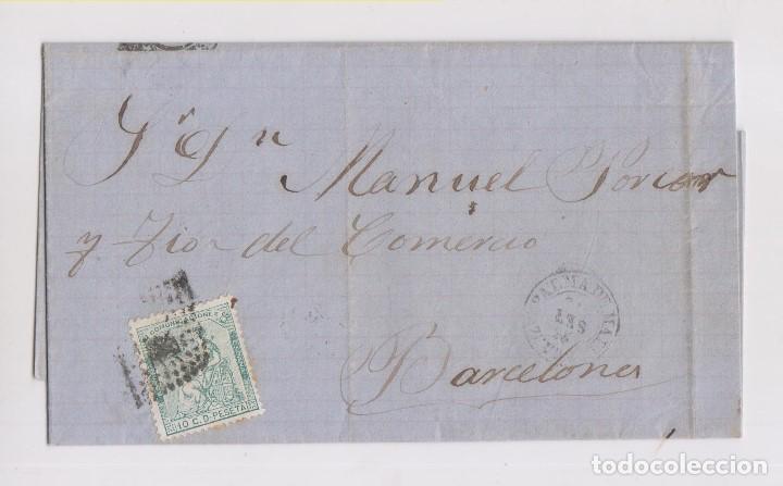CARTA ENTERA DE PALMA DE MALLORCA, BALEARES. 1873 (Sellos - España - Amadeo I y Primera República (1.870 a 1.874) - Cartas)