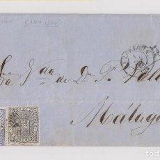 Sellos: RARÍSIMO PRIMER DÍA DE CIRCULACIÓN DEL 10 CÉNTIMOS AZUL. DE 1 DE JULIO DE 1874. BARCELONA A MÁLAGA . Lote 149448174