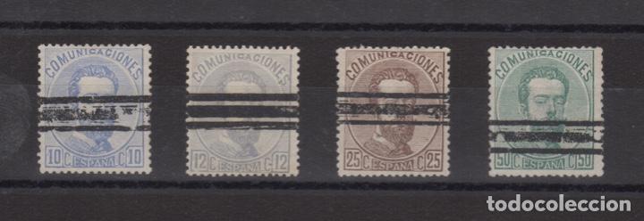 1872 AMADEO I - BARRADOS VARIOS VC 25,00€ (Sellos - España - Amadeo I y Primera República (1.870 a 1.874) - Usados)