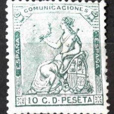 Sellos: EDIFIL 133, SIN MATASELLAR, SIN GOMA; MUY LIGERAS DOBLECES EN REVERSO. I REPÚBLICA.. Lote 151366810