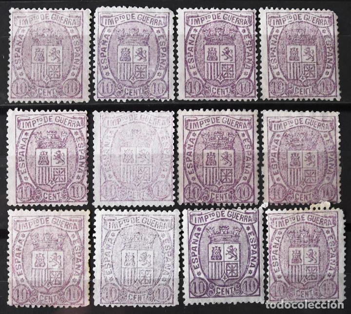 EDIFIL 155, DOCE SELLOS, SIN MATASELLAR, SIN GOMA. I REPÚBLICA. ESCUDO DE ESPAÑA. (Sellos - España - Amadeo I y Primera República (1.870 a 1.874) - Nuevos)