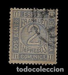 REINADO AMADEO I - CIFRAS - EDIFIL 116 - 1872 (Sellos - España - Amadeo I y Primera República (1.870 a 1.874) - Usados)