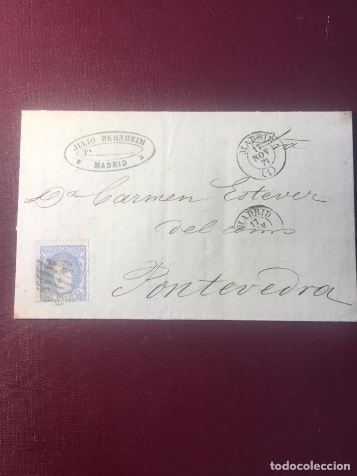 CARTA FILATELICA,(MADRID 1871). (Sellos - España - Amadeo I y Primera República (1.870 a 1.874) - Cartas)