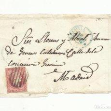 Sellos: FRONTAL CIRCULADA 1857 DE SEGOVIA A MADRID SELLO SIN FILIGRANA. Lote 153448510