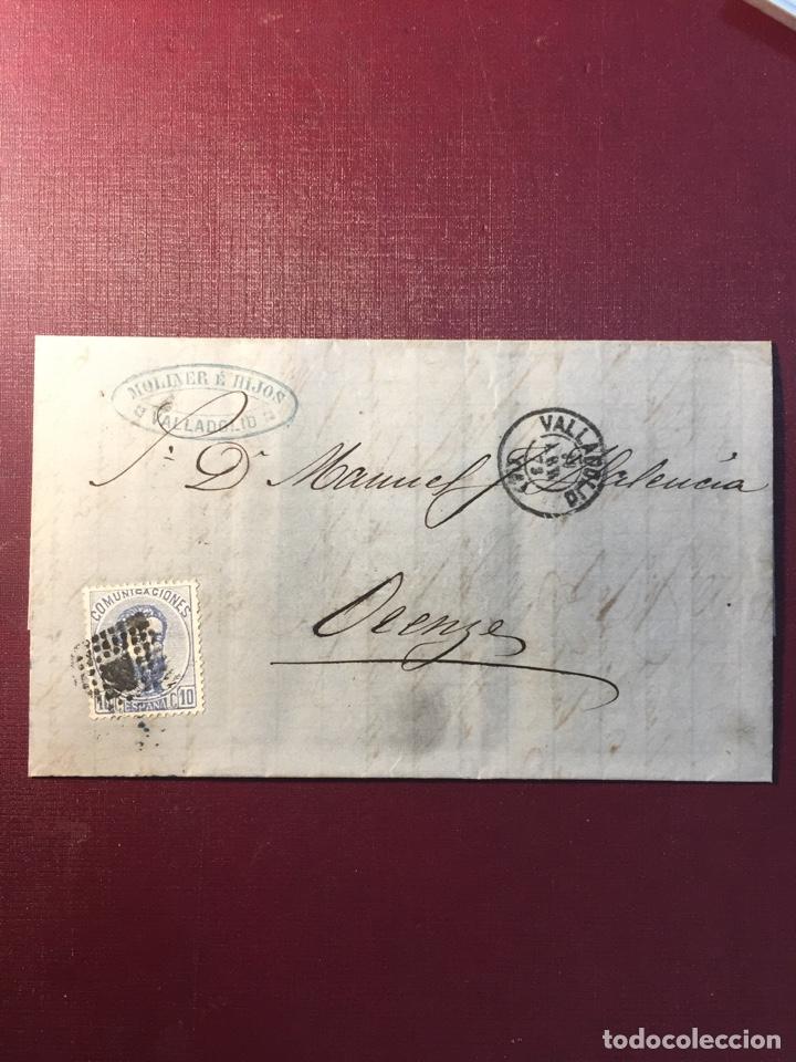 CARTA FILATELICA,(VALLADOLID 1873). (Sellos - España - Amadeo I y Primera República (1.870 a 1.874) - Cartas)