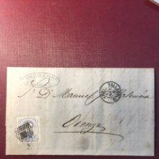 Sellos: CARTA FILATELICA,(VALLADOLID 1873).. Lote 153736566