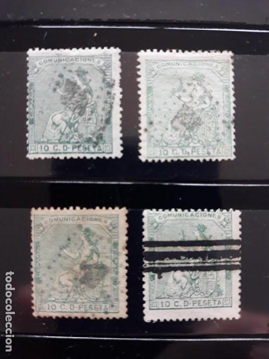 EDIFIL 133. 4 VARIEDADES DE COLOR (Sellos - España - Amadeo I y Primera República (1.870 a 1.874) - Usados)