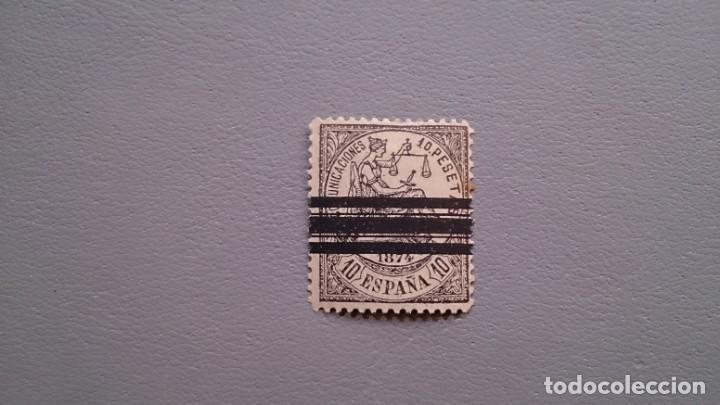 ESPAÑA - 1874 - I REPUBLICA - EDIFIL 152 - MNH** - NUEVO - BARRADO - SELLO CLAVE. (Sellos - España - Amadeo I y Primera República (1.870 a 1.874) - Nuevos)