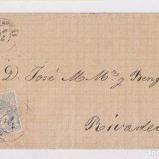 Sellos: ENVUELTA DE AVILÉS, ASTURIAS, A RIBADEO. MATRONA. 1871. Lote 156562418