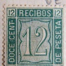 Sellos: SELLO FISCAL RECIBOS AMADEO I 1873, 12 CÉNTIMOS Nº19 (3). Lote 156973546