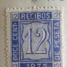 Sellos: SELLO FISCAL RECIBOS AMADEO I 1875, 12 CÉNTIMOS Nº21 (3). Lote 156973740
