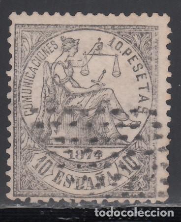 1874 EDIFIL Nº 152, DICTAMEN COMEX. 10 PTS NEGRO. (Sellos - España - Amadeo I y Primera República (1.870 a 1.874) - Usados)