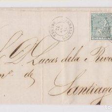 Sellos: CARTA DE CARBALLINO, ORENSE, 1874. GALICIA. IMPUESTO DE GUERRA. Lote 158467150