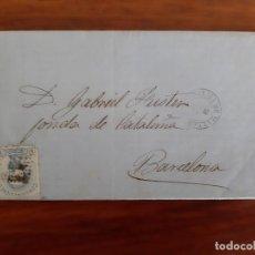 Selos: CIRCULADA Y ESCRITA 1872 DE PALMA DE MALLORCA BALEARES A FONDA DE CATALUÑA BARCELONA . Lote 158779526